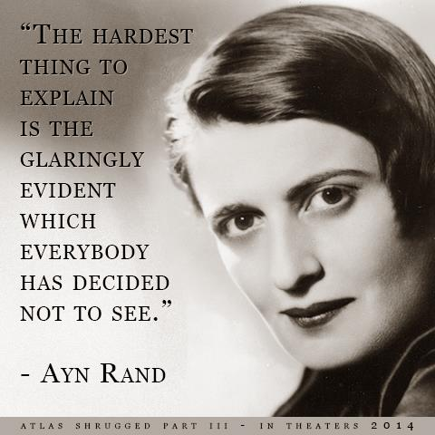 Ayn Rand obvious