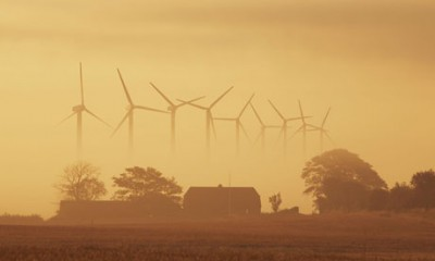 Wind energy in Denmark : wind turbines in Holstebro , Westjutland