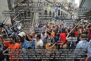 Down with the hypocrisy about evil corporations