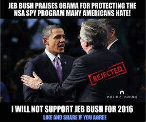 Bush praising Obama's NSA