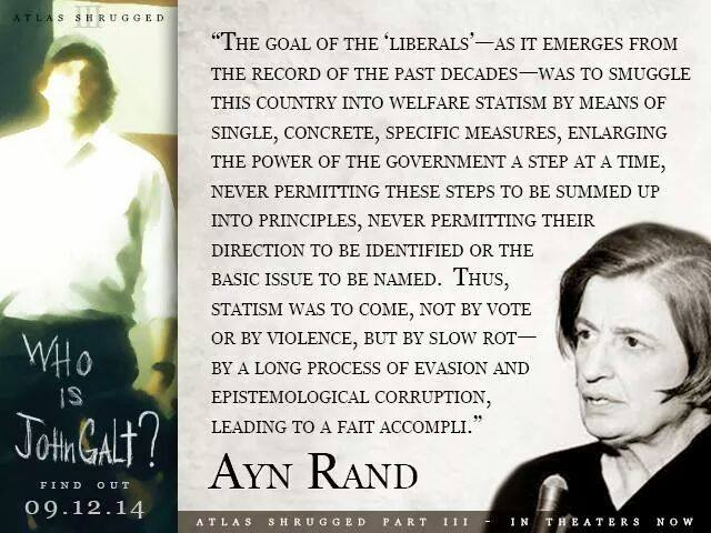 Ayn Rand on the path to socialism