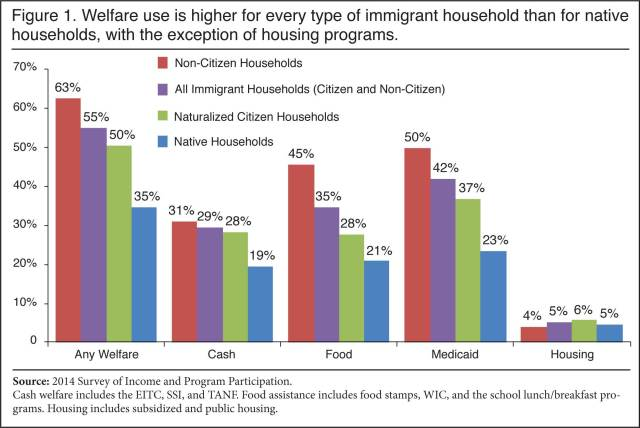 Immigrants on welfare