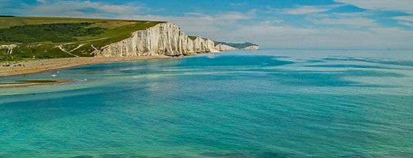 500ft chalk cliffs Seven Sisters East Sussex England