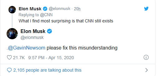 Screenshot_2020-04-16 Elon Musk Absolutely Wrecks CNN for Spreading False Claims About His Donations During the Pandemic(1)